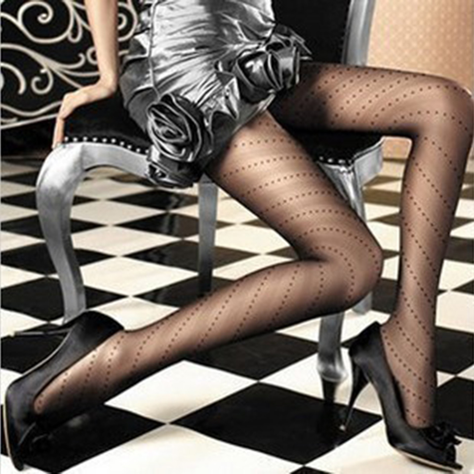 Sexy Pantyhose Ladies Tights Women Collant Female Thin Sheer Tights Dot Strumpfhose Collants Fantaisie Femme