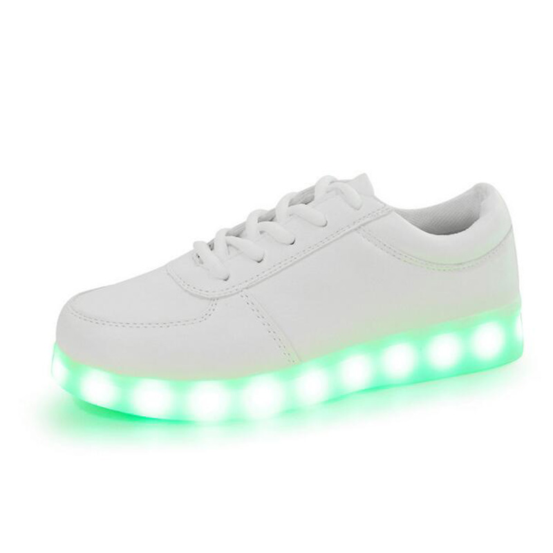 12 colors Women lights up led luminous shoes high top glowing casual shoes  LED USB Charging shoes for adult men shoes lace-up 44ca849f2e