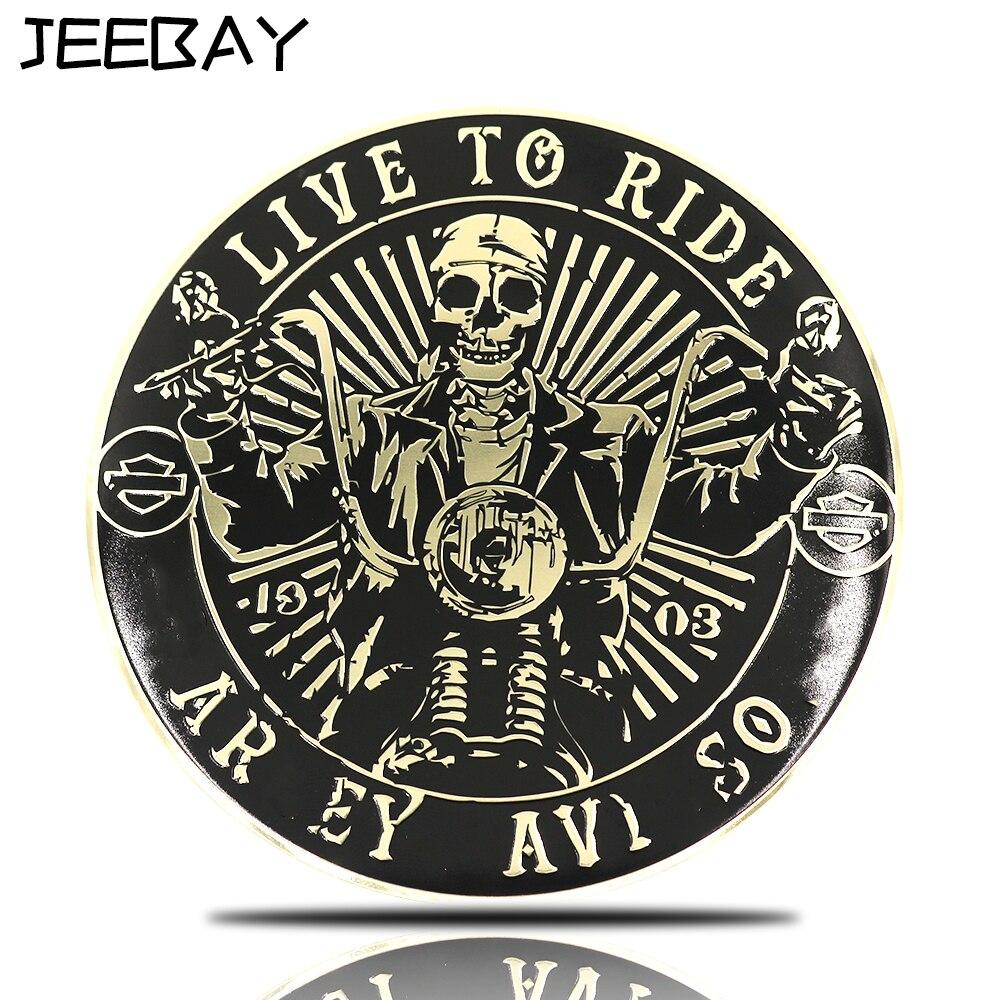 JEE BAY JEEBAY 3D metalo kaukolės velnio ženklelis ženklelis stiliaus motociklas motokroso lenktynėms