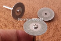 high hardness ! 5pcs discs and 1 arbour 50mm Mini stone jade glass Diamond Cutting Discs Dremel sheet Tools Jewelry LOW PRICE