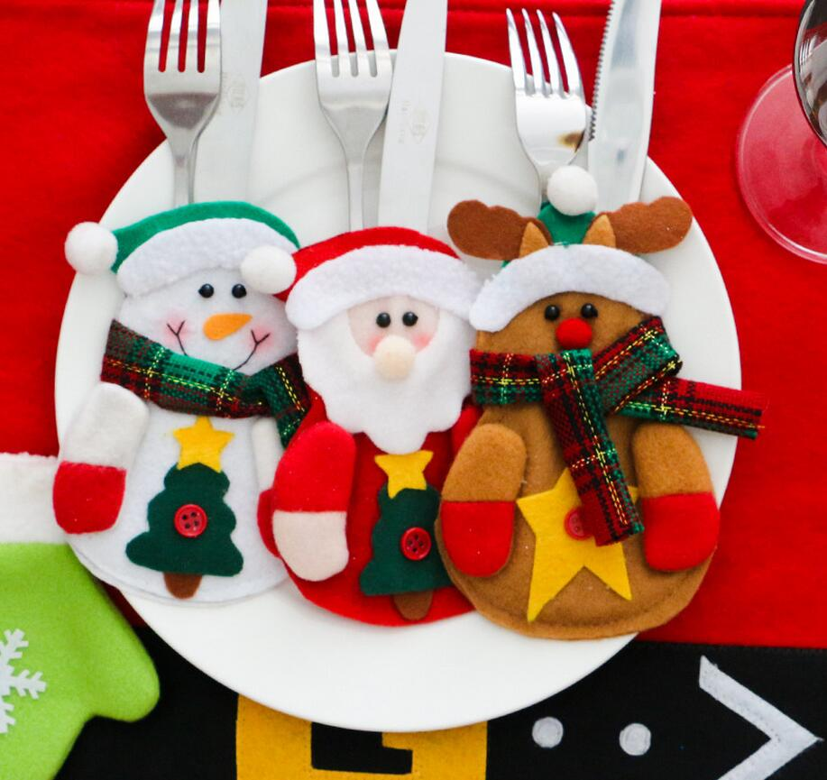 3pcs Christmas Table Elk Decoration Cutlery Set Party Decoration Pokemon Personalized Christmas Ornaments Gift Box