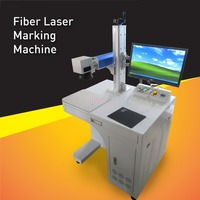 China Stand alone High Accuracy 50watt Fiber Laser Marking Machine for deep or big marking area Engrave and Mark