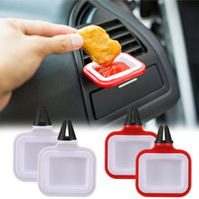 2 stuks Verwijderbare Auto Saus Houders Stand Dip Clip In Auto Ketchup Rek Mand Dompelen Sauzen Auto Interieur Auto styling Dropshipping