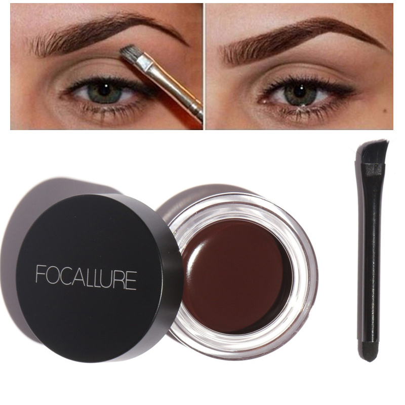 Focallure No Shading Durable Eyebrow Pomade Gel Waterproof Maquiagem Makeup Accessories Eye Brow Cream Eyebrow Enhancer Cosmetic