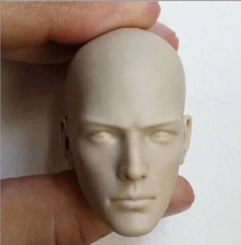 1/6 Scale Male Head Sculpt Buddhist Monk Unpainted White Head Clothes Eyes/Open Eyes Model For 12 Inches Action Figure