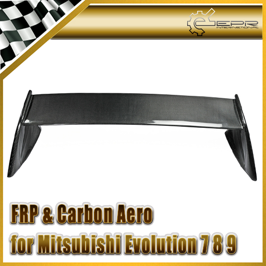 Accessoires de voiture pour Mitsubishi Lancer Evolution EVO 7 8 9 FQ Type aileron arrière en Fiber de carbone garniture de coffre en Fiber brillante