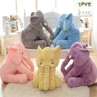 1pc 50cm Stuffed Soft Appease Elephant Baby Elephant Plush Cushion Toy Elephant Baby Pillow Birthday Present