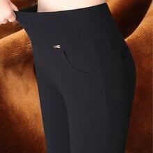 Plus size S-6XL Women pants pantalones mujer high waist skinny cotton casual capri pants women pencil pants female trousers
