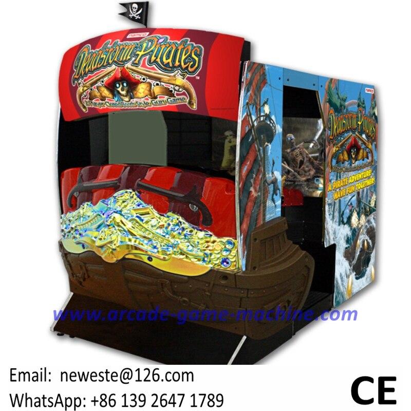 2 игрока Deadstrom пиратский корабль оборудование для развлечений симулятор стрельбы из пистолета аркадная игра машина