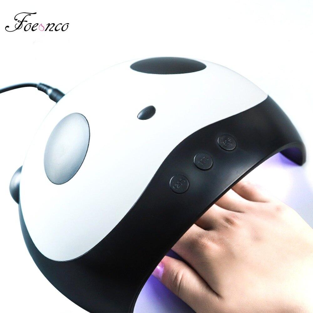 Cute Panda Shaper lámpara UV 36 w LED secador de uñas manicura lámparas doble luz Auto movimiento secador para curar Gel herramientas del arte del clavo polaco