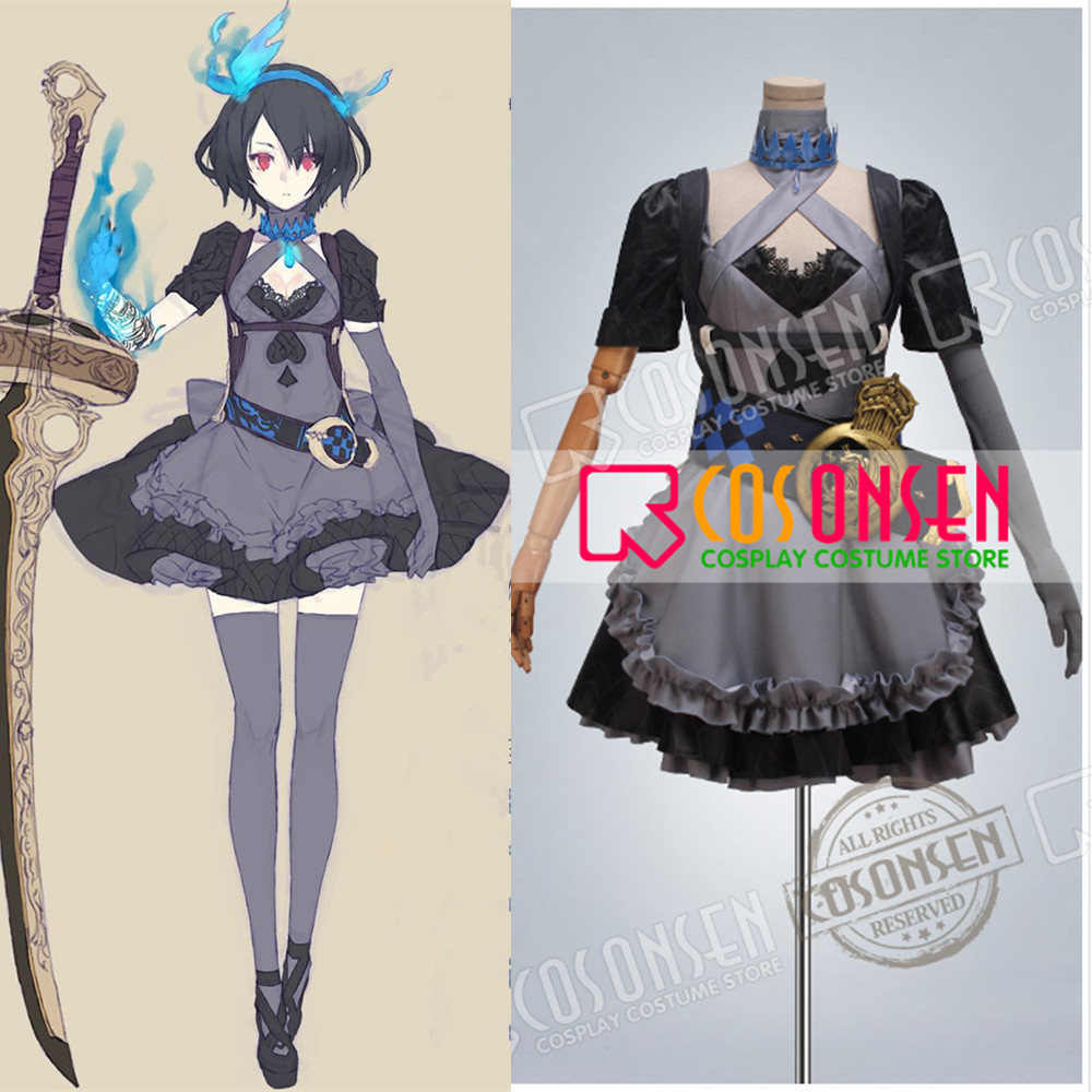 COSPLAYONSEN Hot Game SINoALICE Alice Gothic Lolita Uniforms Halloween Cosplay Costume Women Dress All Size