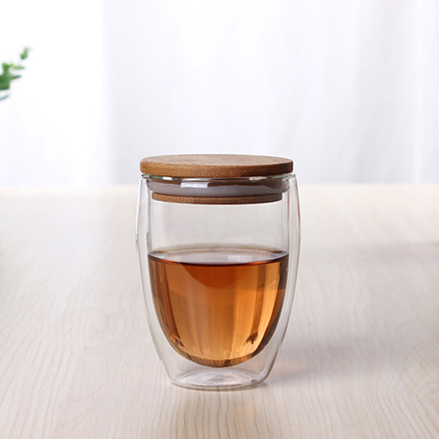 Glass Tea Cup with Cover