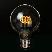G95 Antique Edison Bulb 4W Dimmable Soft LED Filament 220V 240V E27