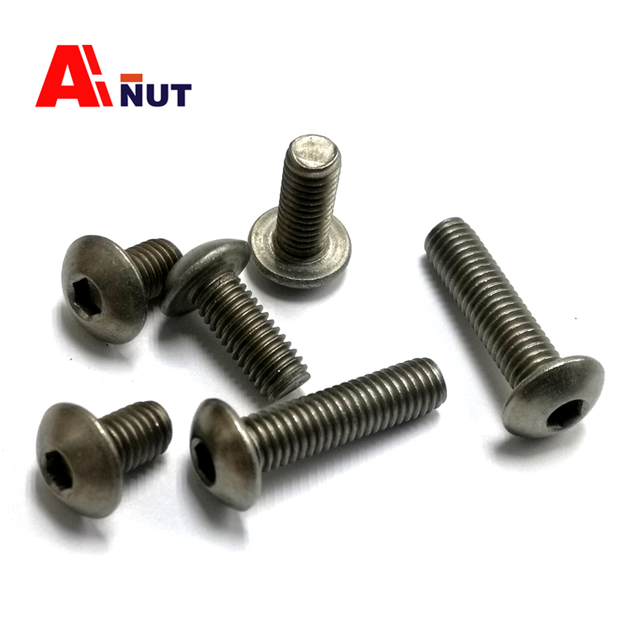 m3 m4 m5 m6 Titanium screw hex socket button head screw kit, ISO 7380 Titanium bolt , super light screws antirust fastener-in Bolts from Home Improvement