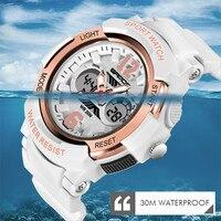 Relogio Feiminino dijital saat kadınlar 30M su geçirmez elektronik spor saat kadınlar için reçine kol saati bayan LED beyaz