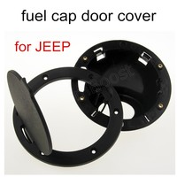 New Arrival 1Pcs Cap Black ABS Gas Fuel Tank Cap Door Cover Fit for Jeep Wrangler 07 15 stainless steel hot sale