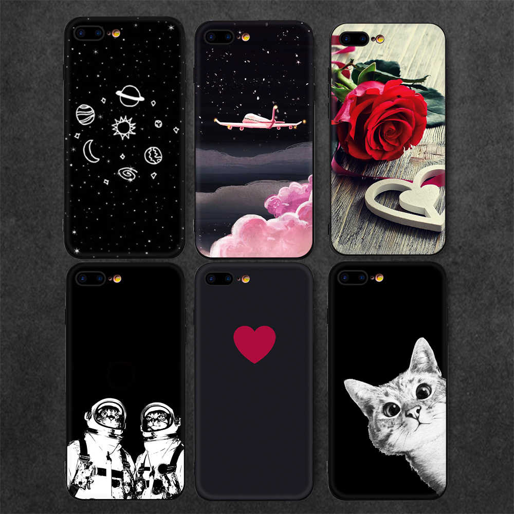 KK PINK Patterned Phone Case For iPhone 7 X 8 Plus Matte TPU Cover For iPhone X XR XS Max 6 7 6S Plus Cats Heart Space Capa Bag