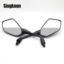 FOR BMW K1200S MOTO R 1200 GS R1200GS Universal 10mm Motorcycle Rearview Mirrors Black Scooter side retroviseur moto