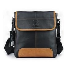 2016 Nouveau mode hommes petit messenger sacs en cuir véritable vintage hommes sacs de luxe brand design hommes Sac à bandoulière porte-documents