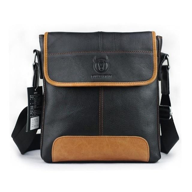2017 New fashion men messenger bags genuine leather vintage men bags luxury brand unique design men shoulder Bag