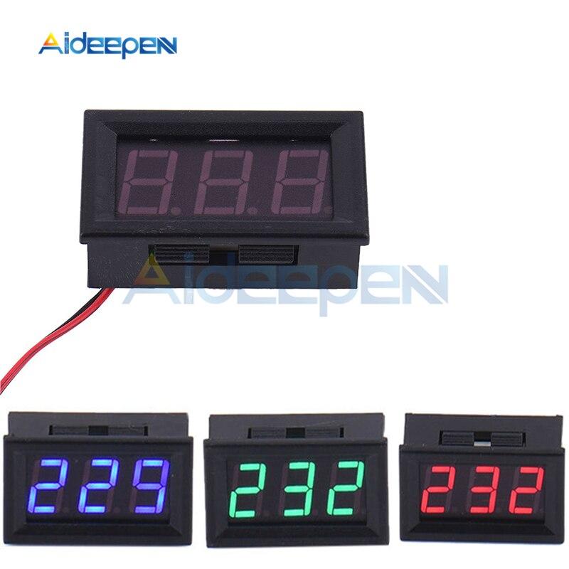 2 Wires 0.56 Inch LED Digital Voltmeter AC 70V-500V Vehicles Motor Volt Voltage Panel Meter Blue LED Voltmeter 110V 220V For DIY