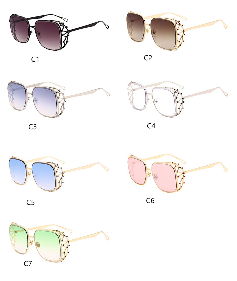 HTB1sRXGkWagSKJjy0Fgq6ARqFXab - Steampunk Square Luxury Designer Rhinestone Sunglasses