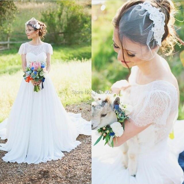 2015 bohemio vestidos tallas grandes vestidos de novia vintage
