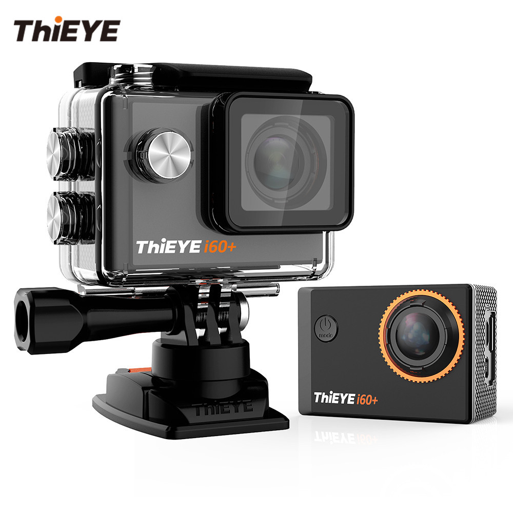 ThiEYE i60+ 4K WiFi Action Camera With free Degree Rotation Mount Ultra HD Camera Helmet Biking And Diving Sport Video Camera thieye t5e wifi 4k action camera black