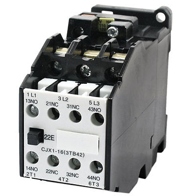 CJX1-16 AC Contactor Screw Terminal 110V 50HZ Coil 3 Phase 2NO 2NC sayoon dc 12v contactor czwt150a contactor with switching phase small volume large load capacity long service life