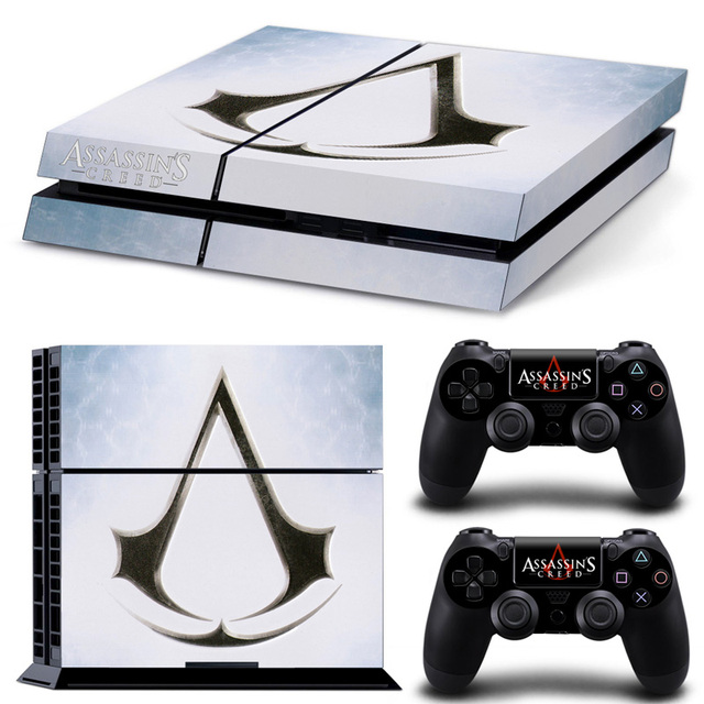 Assassins creed syndicate vinyl decal for ps4 skin stickers wrap for playstation 4 console and 2
