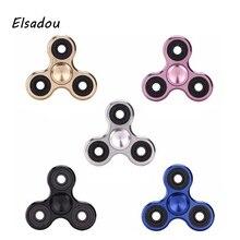 Elsadou EDC Toys Triangular Hand Spinner Metal  ADHD Tri Spinner Fidget Spinner