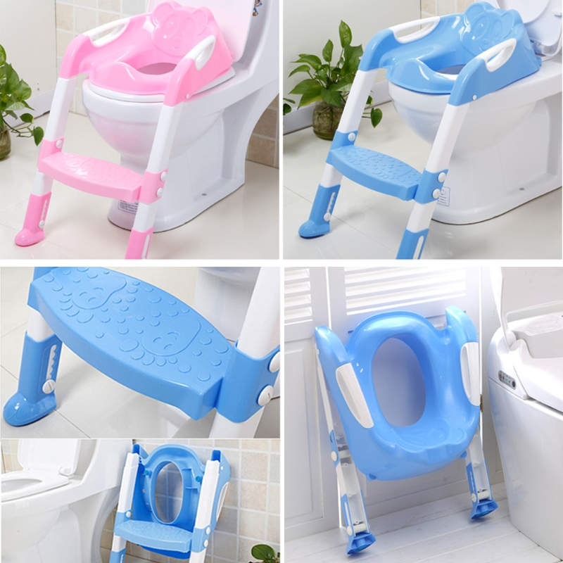 Baby Toilet Seat Folding Potty Toilet Trainer Seat Chair Step with Adjustable Ladder infant Potty ChildrenBaby Toilet Seat Folding Potty Toilet Trainer Seat Chair Step with Adjustable Ladder infant Potty Children