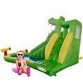 Yard envío gratis cocodrilo lindo juguete combo gorila inflable tobogán hinchable de aire de verano