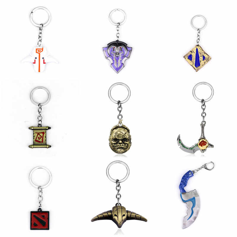 Dota 2 keychain Pudge Toys set New Game Dota2 Weapons Sword Talisman Props Ornaments Car Styling Decor Gift for Player Game Gift