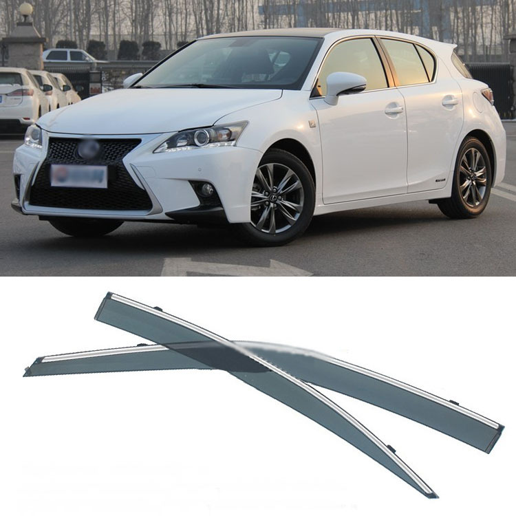 Jinke 4pcs Blade Side Windows Deflectors Door Sun Visor Shield For Lexus CT200 2012-2013 jinke 4pcs blade side windows deflectors door sun visor shield for peugeot 408 2010 2013