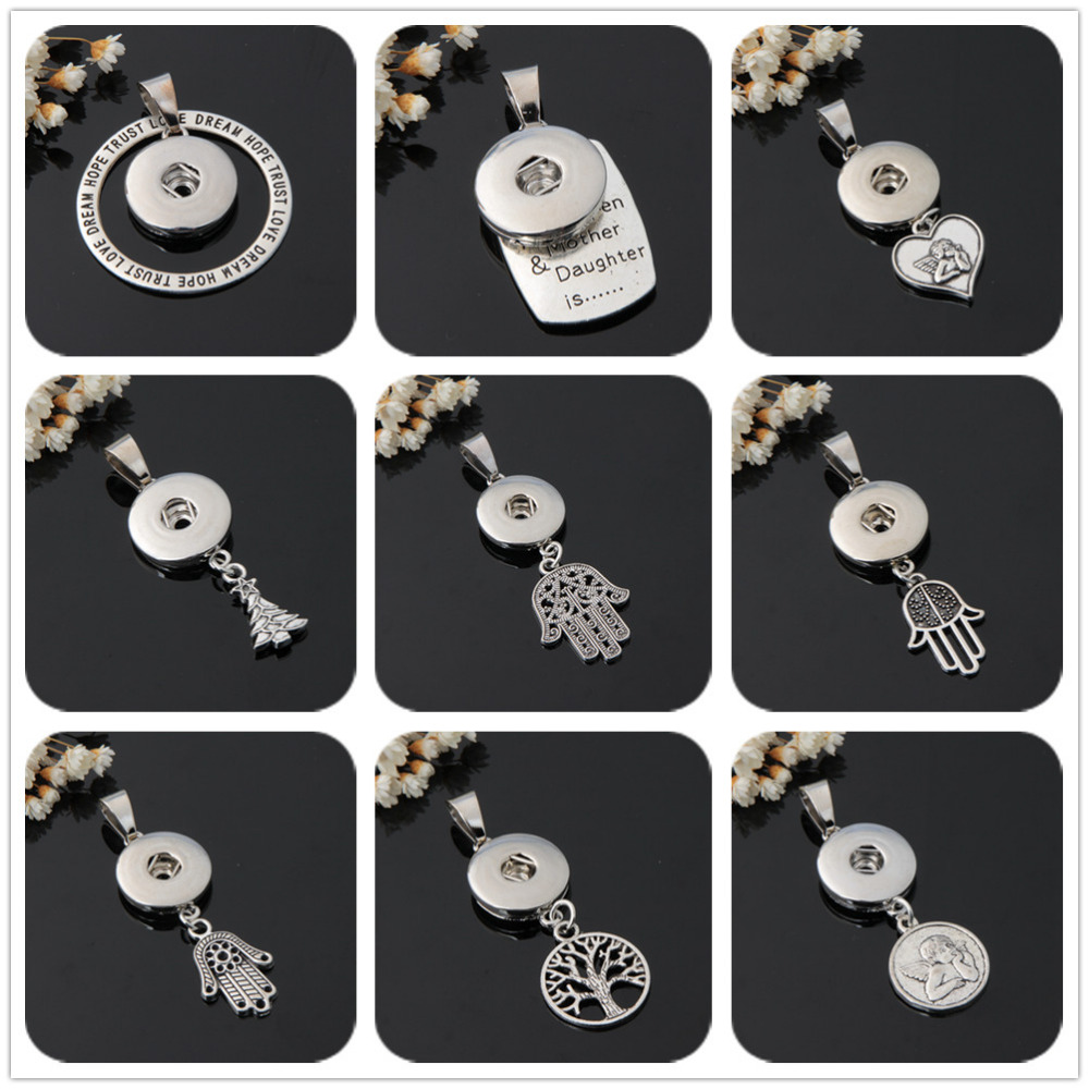 Hot sale XL5048-XL5057 Simple Lovely Life of tree chain snap necklace 50cm fit 18mm snap buttons fashion snap jewelry