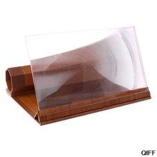 """Прямая поставка и 1"""" деревянный складной мобильный увеличитель для экрана телефона HD видео усилитель держатель стенд 25 июня"""