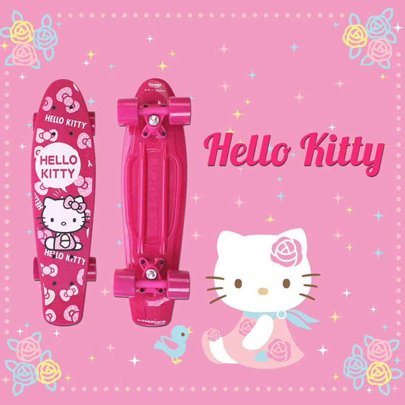Free Shipping 22 Hello Kitty skateboard longboard banana fish skate board mini cruiser long Skateboard peny boards for sale скейтборд other ps001 free shipping 22 penny mini cruiser skateboard penny board