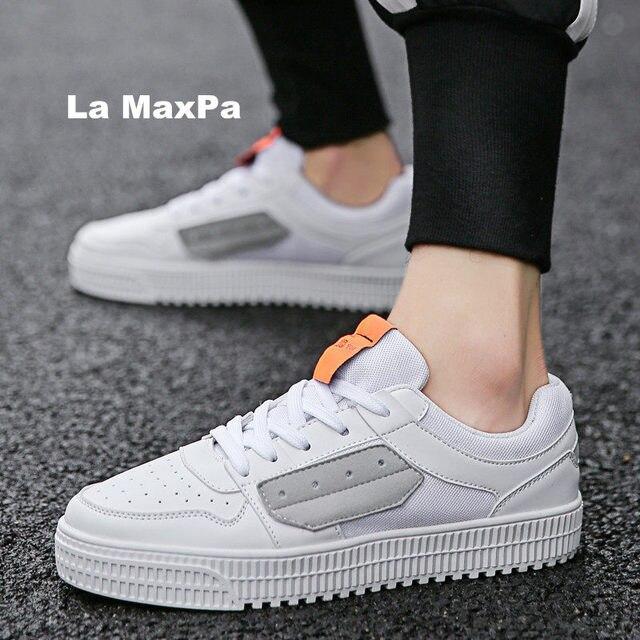 e0d7a66256cdc Breathable Running Shoes Men Designer Platform Sneakers Men Force One  Rubber Vulcanized shoes sport shoes men zapatillas hombre