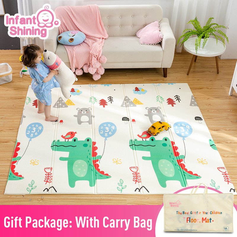 Infant Shining Baby Mat Play Mat for Kids 180*200*1.5cm Playmat Thicker Bigger Kids Carpet Soft Baby Rugs Crawling Floor Mats-in Play Mats from Toys & Hobbies