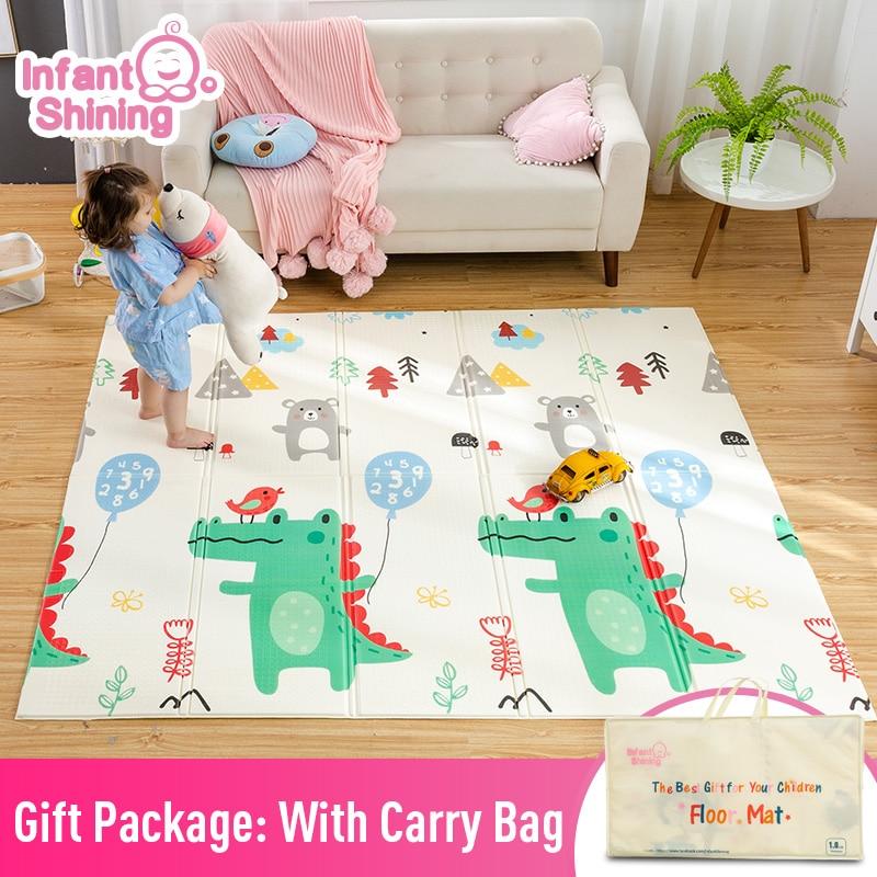 Infant Shining Baby Mat Play Mat For Kids 180*200*1.5cm Playmat Thicker Bigger Kids Carpet Soft Baby Rugs Crawling Floor Mats