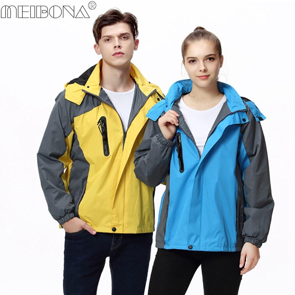 Men Women Waterproof Jacket Trekking Camping Rain Coat ...