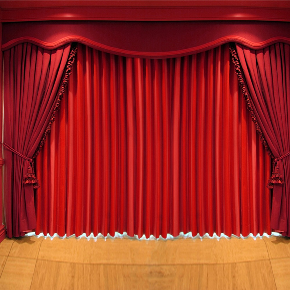 Empty stage curtains with lights - Photo Curtains For Stage Vintage Wood Floor Photography Backdrops For Photo Studio 150cm200cm 150cm 200cm