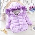 Малыш Девушки Корейских Детей Толщиной Утка Вниз Дети Зимняя Куртка Цветочный Капюшоном Белая Утка Вниз Молния Мода Вниз Пальто