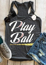 Women Play Ball Letter Print Tank Female Casual O-Neck Loose Vest S-XL Sexy Sleeveless Ladies Tops Tee Summer Tank Top