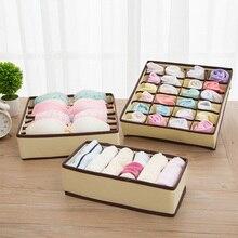 3PCS/Set Storage Boxes organizer For Tie Sock Shorts Bra Underwear Divider Drawer Closet Organizer Ropa Interior Organizador box