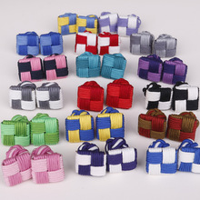 цена на Multicolor Chinese Knot Cufflinks for Mens Shirt Cuff Buttons Braided Knitting Thread Buckle Shirts Button Color Block Cufflink