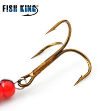 FISH KING Mepps  1#-5# 4pcs/lot  Spinner bait Spoon Lures With Mustad Treble Hooks Peche isca Pesca