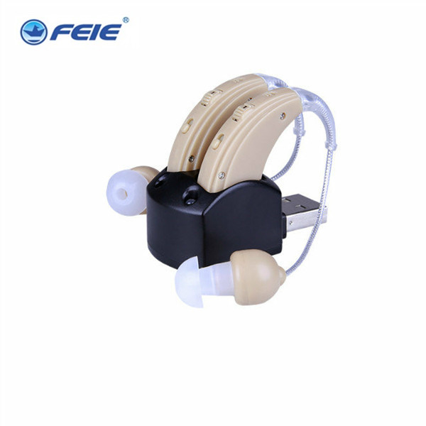 FEIE Rechargeable In Ear Mini Hearing Aid S-109S Double Listenig Device Cheap Aide Auditive Free Shipping feie mini rechargeable hearing aid usb charger computer ajustable tone ear listen device s 109s drop shipping