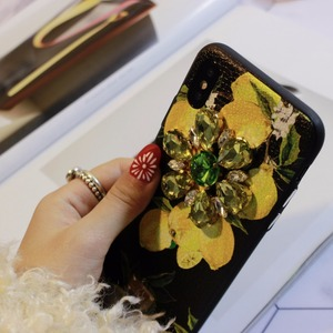 Image 3 - Aoweziic Hot Flower lemon For iPhone X XS MAX XR mobile phone shell Dragonfly butterfly 6S 7 8Plus water drill protection sleeve